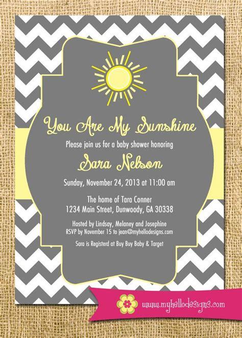 printable sunshine invitation    sunshine invite