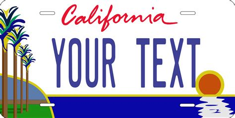california license plate designs california palm tag custom novelty vehicle car auto or