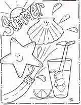 Coloring Pages Summer Beach Sheets Disney Printable Fun Summertime Christmas Animal Nestofposies Cool Sheet sketch template