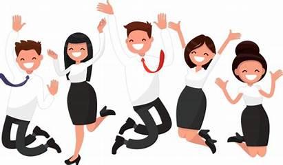 Employee Cartoon Happy Clipart Employees Clip Benefits