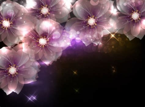 fantasy flowers vector background vector