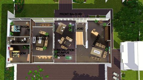 mod  sims modern perspective open plan modern family home  cc