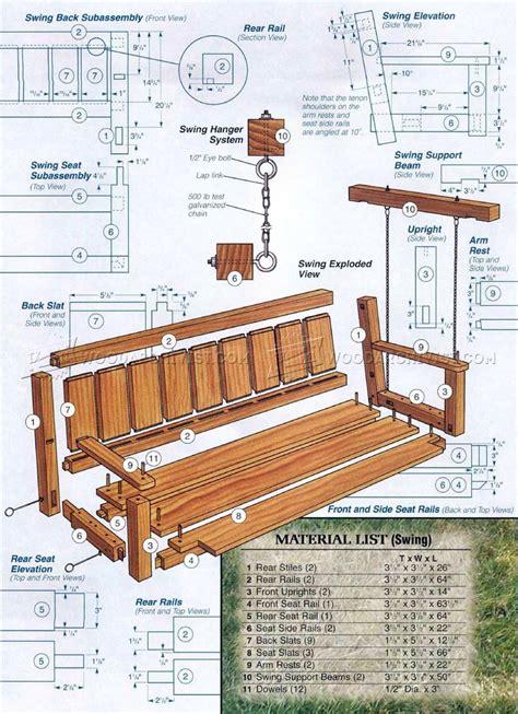 outdoor arbor swing plans woodarchivist