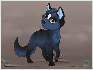 Black Anime Wolf Pup | www.imgkid.com - The Image Kid Has It!