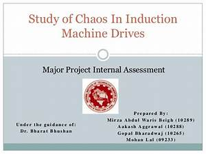 Study Of Chaos In Induction Machines