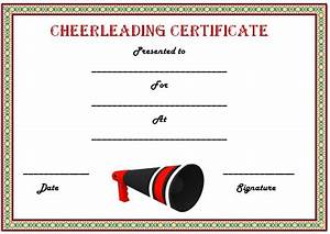 20 free printable cheerleading certificate templates for coaches kids demplates