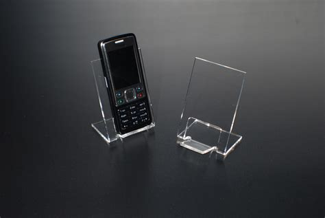 cell phone holder for acrylic displays mobile phone holder