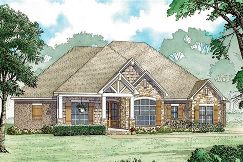 House Plans With Vaulted Ceilings by One Story House Plan With Vaulted Ceilings And Rear