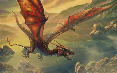 Fantasy Artwork Dragon Flaying Wallpapers Desktop Background