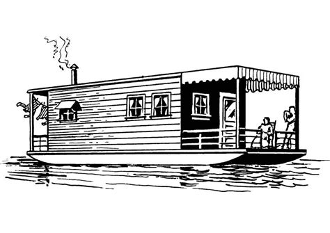 coloring page houseboat img