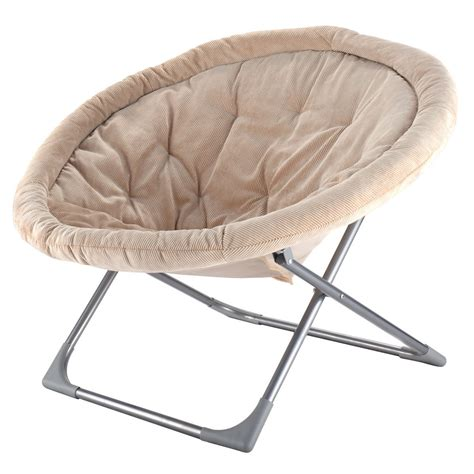 Oversized Saucer Chair For Adults by Oversized Large Folding Saucer Moon Chair Corduroy