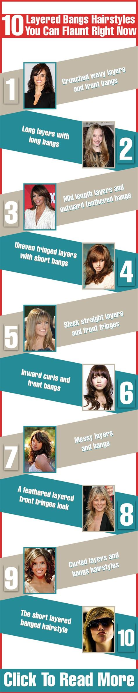 layered bangs hairstyles ideas  pinterest side bangs  long hair layered side