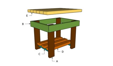 patio end table plans myoutdoorplans free woodworking