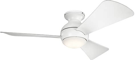 kichler sola ceiling fan kichler 330151mwh sola contemporary matte white 44 quot indoor