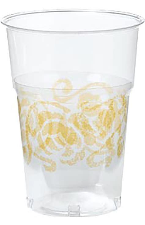 bicchieri plastica trasparenti accesorio da tavola 10 bicchieri trasparenti con decoro