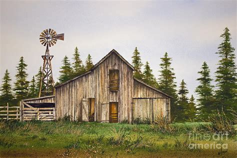 country wall decor ideas rustic barn painting by williamson
