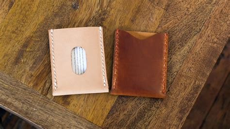 basic leather card sleeve template build  video