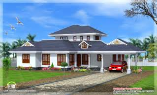 single house beautiful kerala style single floor villa indian house plans