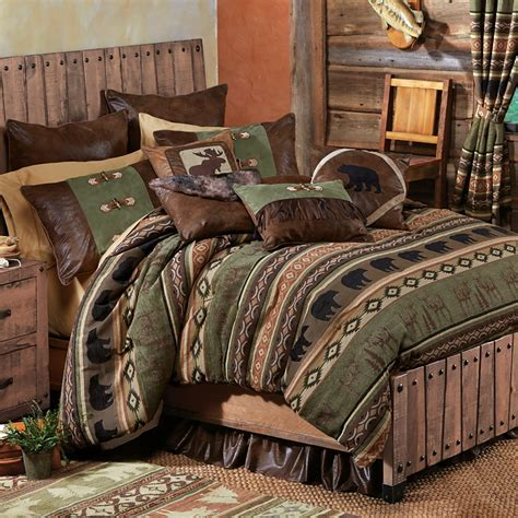 Timber Woods Moose & Bear Bed Set   Queen