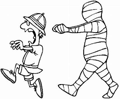 Mummy Chasing Mummies Coloring Pages