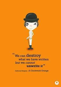 Clockwork Orange Illustration Quote Print We can by ...