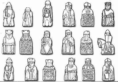 Lewis Chess Pieces Viking Vikings Carving Patterns