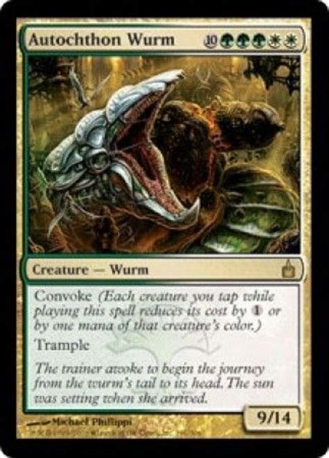 autochthon wurm ravnica singles magic the gathering