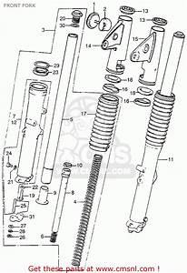 Honda Cb750 Four K4 1974 Usa Front Fork