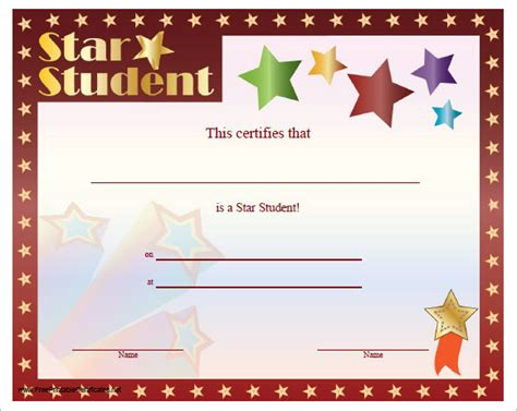 certificate templates  kids  samples examples