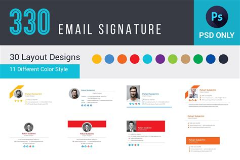 email signature template  email signature template set