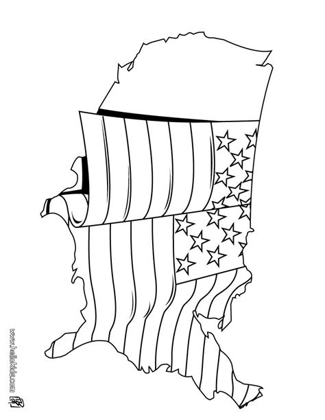 july coloring pages  flag