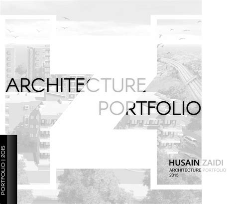 architecture portfolio  husain zaidi issuu