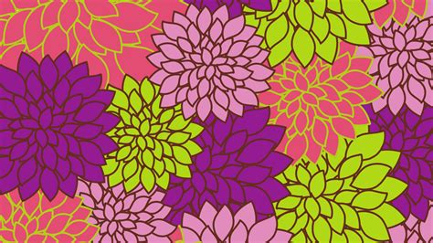 bright floral background   page