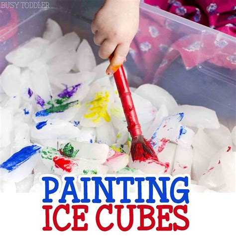 painting cubes activity early childhood education 690 | c9530bc1097f5799bc279775b94d58b2