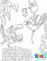 Rio Coloring Sheets Pages Colouring Blu Printable Rio2 Printables Activity Movie Disney Jewel Sheet Sky Kiddycharts Nico Characters Dvd Rafael sketch template