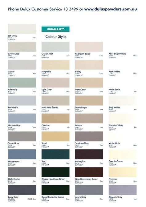 dulux colour chart painting colour chart