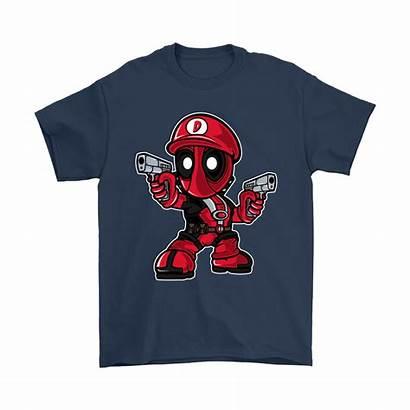 Chibi Deadpool Mashup Mario Nintendo Shirts