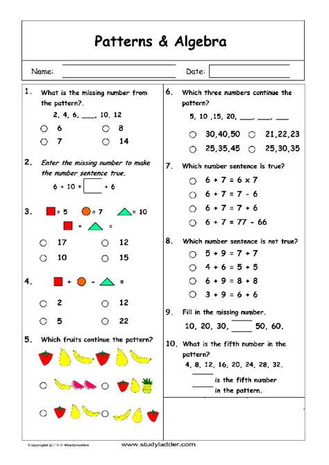 patterns and algebra problem solving mathematics skills online interactive activity lessons