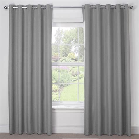 luna silver grey luxury thermal blackout eyelet curtains