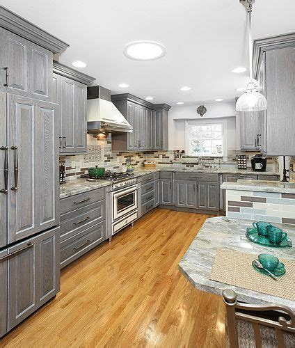 gray wood kitchen cabinets grey stained oak home design ideas pictures remodel and