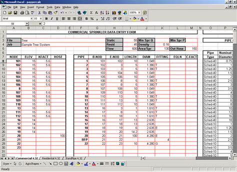 fire sprinkler hydraulic calculation  design software