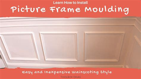 How To Install Picture Frame / Wainscoting Moulding