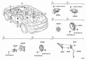 2013 Toyota Venza Speaker  Front  Rear   Audio  Jbl