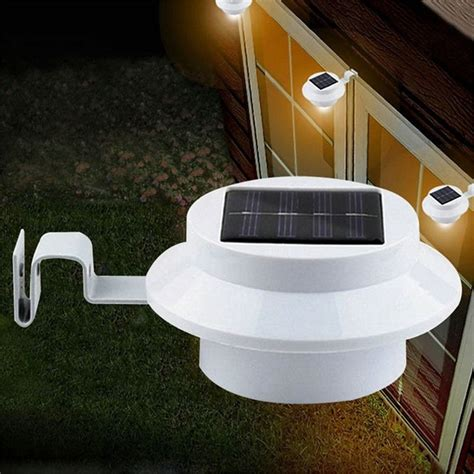 solar powered 3 led cool white warm white light fence