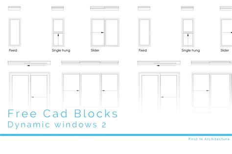 cad blocks dynamic windows