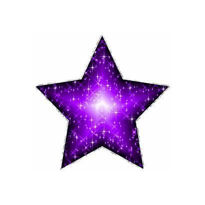 Glitter Graphics Purple Silver Star Outline Myspace