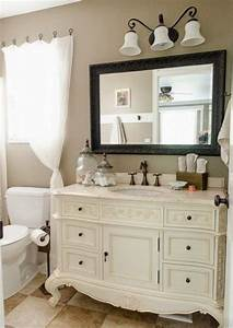 29 vintage and shabby chic vanities for your bathroom With meuble vintage salle de bain