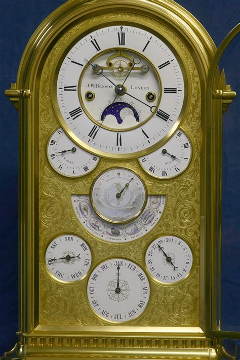rare large french astronomical perpetual calendar
