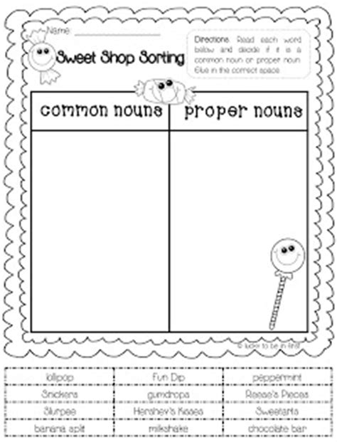 Freebie! Common & Proper Noun Sorti've Found That Anytime My Son Uses Scissors And Glue His