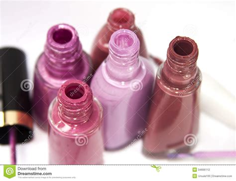 Pink Nail Polish Bottles Stock Photo. Image Of Makeup